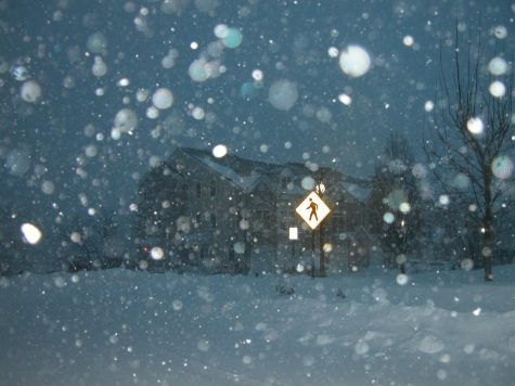 Snow falls in Montvale during a major winter storm that impacted the area.