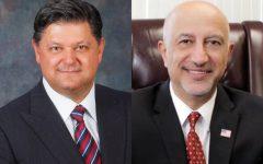 Woodcliff Lake Mayor Carlos Rendo and Montvale Mayor Mike Ghassali.