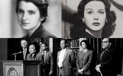 Hedy Lamarr, left; Rosalind Franklin, right; Patsy Mink, bottom.