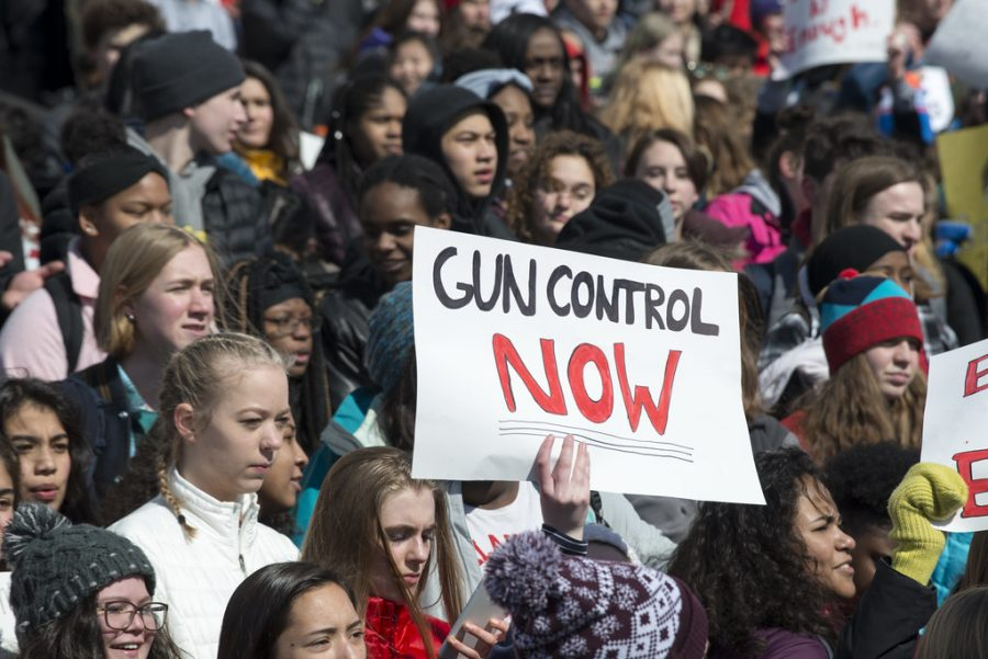 March For Our Lives students protest for gun control.