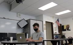 A Hills student during class in-person.