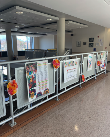 The Asian Culture Club hung signs near the main staircase at Hills to educate about the ancient Hindu festival Holi.