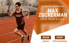 While his strongest area in track is pole vaulting, Zuckerman participates in many other events in track.