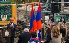 Montvale Mayor Mike Ghassali attends an Armenian Genocide commemoration and speaks of the genocide's history and recognition from the United States.