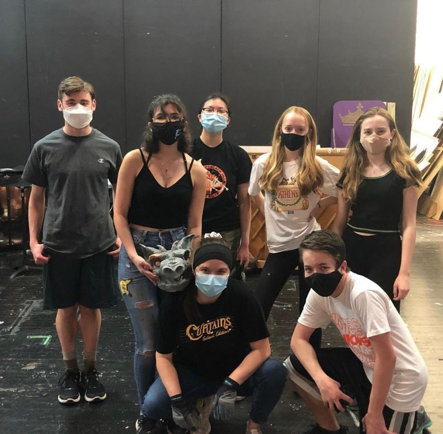 Some of the stage crew after a build.