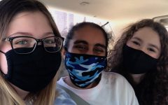 Left to right: Hills students Kaitlyn Verde, Gururoop Kaur, and Lily Plechner.