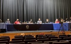 For the first time since the pandemic began, the Board of Education held their meeting in the auditorium.