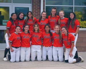 The team defeated the River Dell softball team.