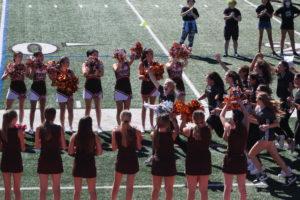 Pascack Hills varsity girls soccer team entering the pep rally.